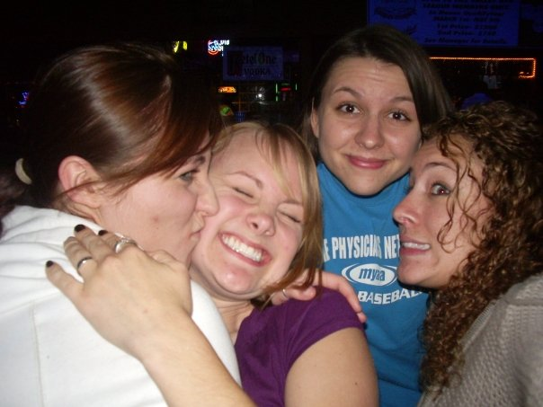 Ok, earliest picture I can find with most of us in it. (Sadly, no Anna) This is sophomore year, spring of 2008.