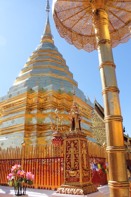 Temple on top of a mountain in Chiang Mai