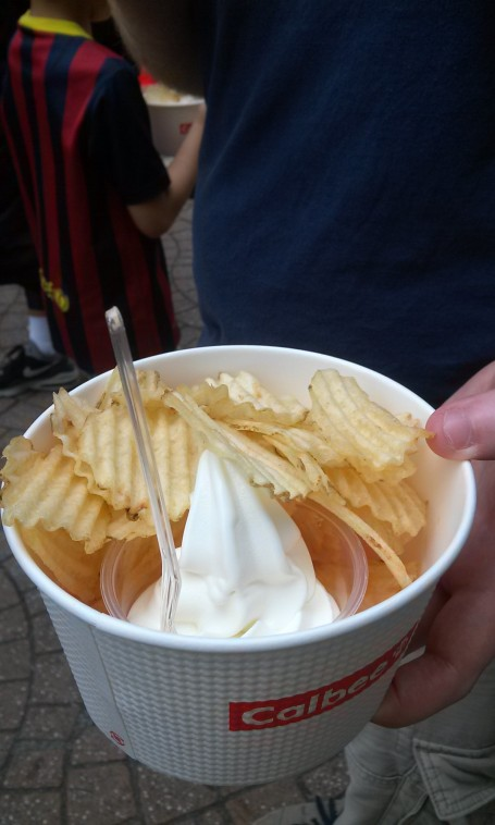 Chips and ice cream