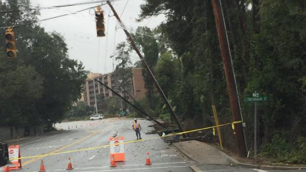 This is the street right outside of my complex. It's a miracle we still have power. Ours must run from the other side of the street.
