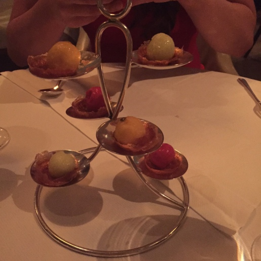 Multiple sorbets to cleanse the palette